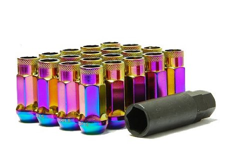 Muteki SR48 Lug nuts - Neo Chrome Genesis Coupe 2010 - 2016