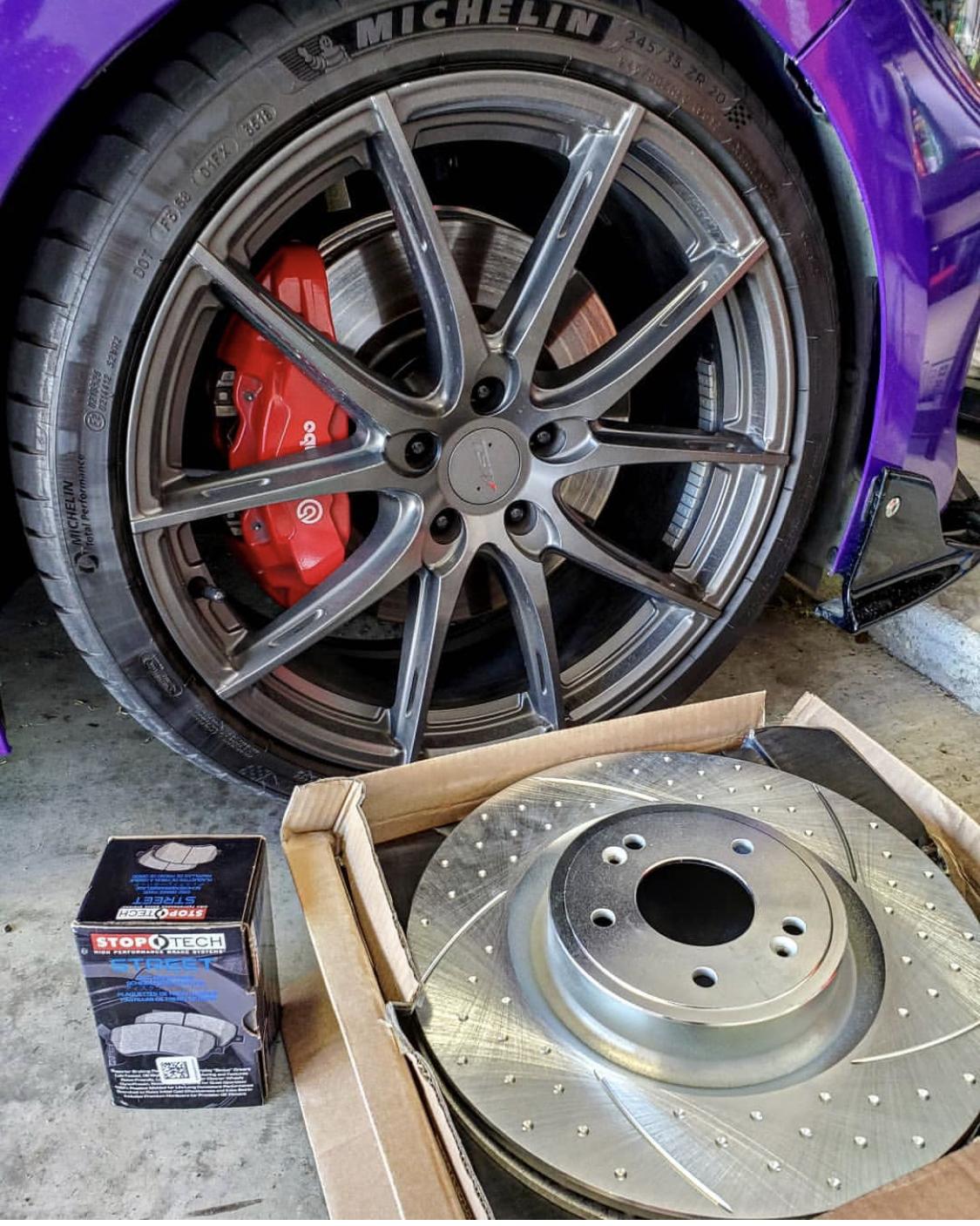 REAR DRILLED AND SLOTTED BRAKE ROTORS For Kia Soul Hyundai Elantra Veloster