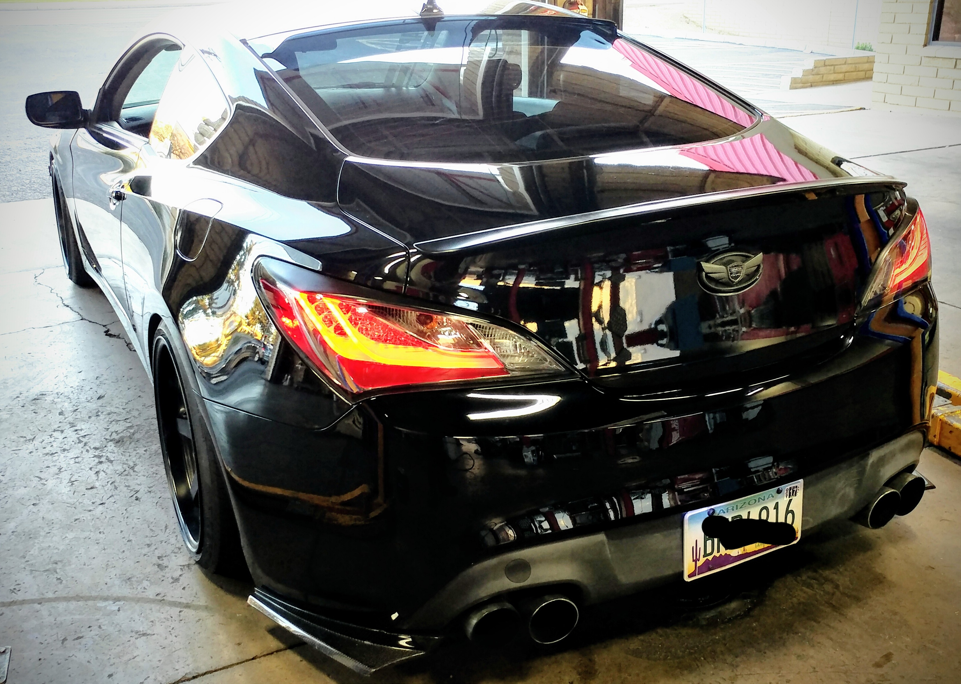 Genesis Coupe 2016 >> 2010-2016 Genesis Coupe Eagle LED Tail Lights - Smoked