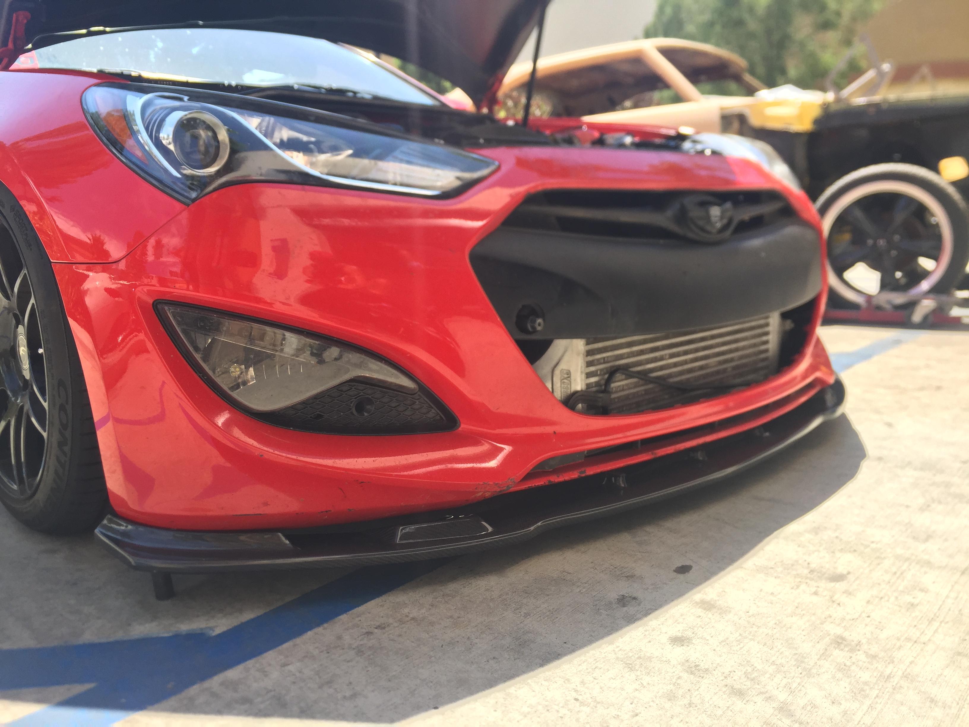 Myride Carbon Fiber Front Lip 2013 2016 Genesis Coupe