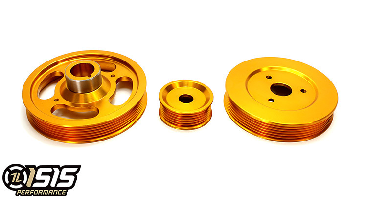 ISIS PERFORMANCE GOLD ALUMINUM PULLEY KIT FOR 2.0T GENESIS COUPE 2010 - 2014