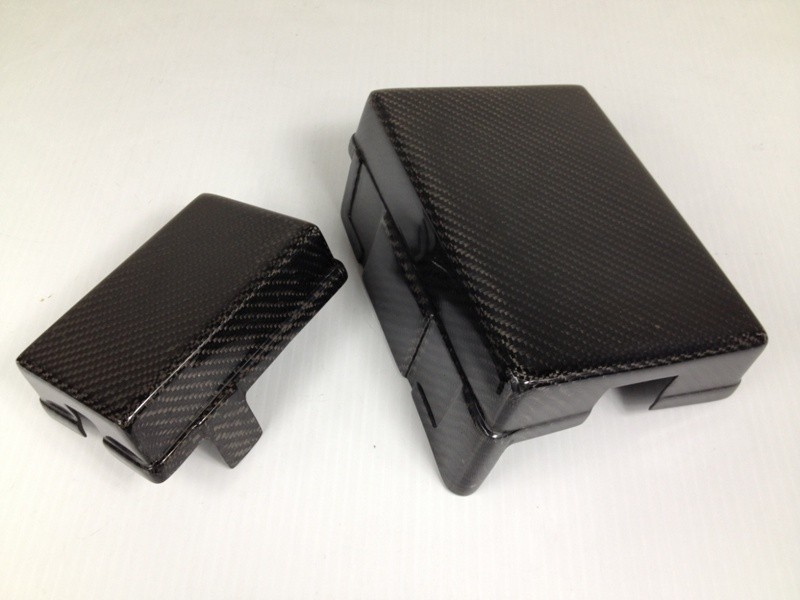 Carbon Fiber Fuse Box Cover Set Hyundai Genesis Coupe All