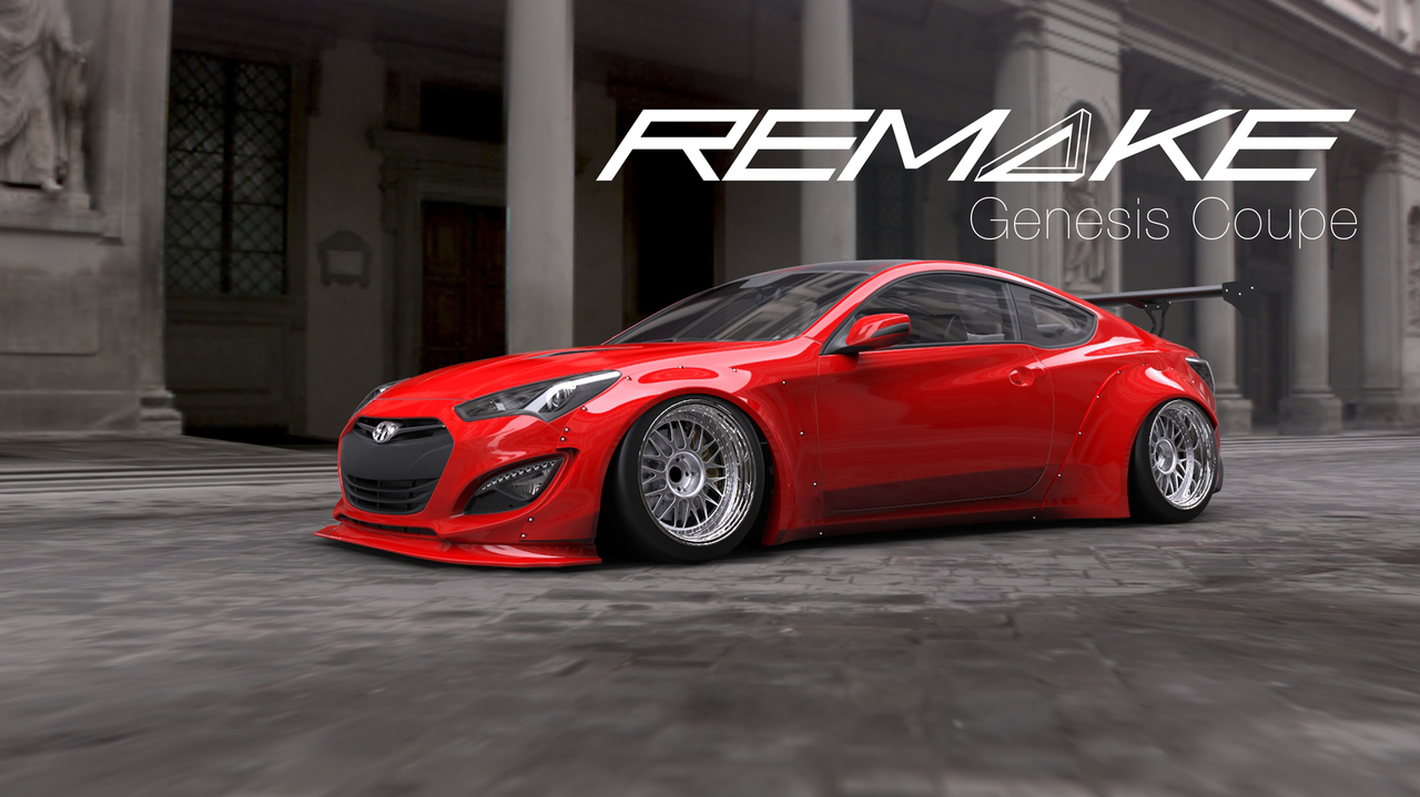 Remake Widebody Front And Rear Flares Genesis Coupe 2013