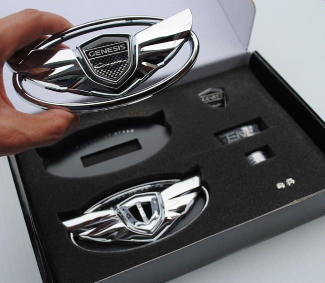 "2016 Hyundai Genesis Coupe >> Genesis Coupe Wing Emblem Set ""The Art Of Speed"" - Chrome"