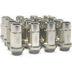 BLOX FORGED ALUMINUM LUG NUT: 12x1.50 (20PC/SILVER)