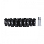 MISHIMOTO ALUMINUM LOCKING LUG NUTS: M12 X 1.5 (BLACK)