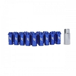 MISHIMOTO ALUMINUM LOCKING LUG NUTS: M12 X 1.5 (BLUE)