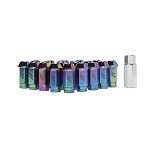 MISHIMOTO ALUMINUM LOCKING LUG NUTS: M12 X 1.5 (NEOCHROME)