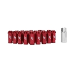 MISHIMOTO ALUMINUM LOCKING LUG NUTS: M12 X 1.5 (RED)