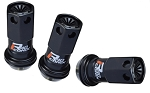 PROJECT KICS R40 ICONIX LUG NUT SET 16 PCS+4 LOCK, BLK PLASTIC CAPS