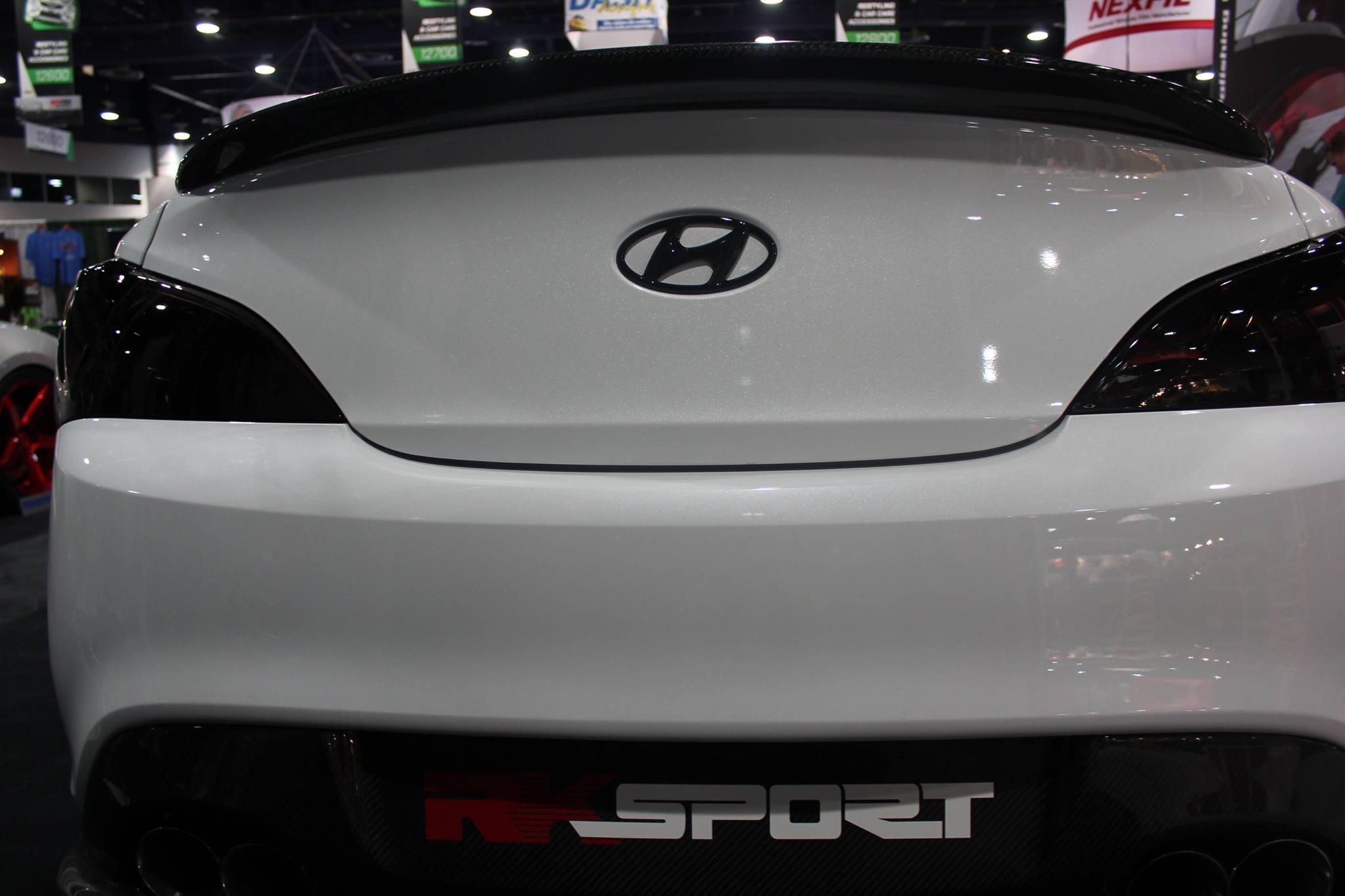 RK Sport Carbon Fiber/Fiberglass Trunk Lip Spoiler Genesis Coupe 2010 2015