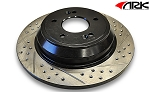 2003-2006 Hyundai Tiburon ARK Drilled and Slotted Brake Rotors - Rear Set