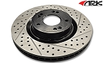 2003-2006 Hyundai Tiburon ARK Drilled and Slotted Brake Rotors - Front Set