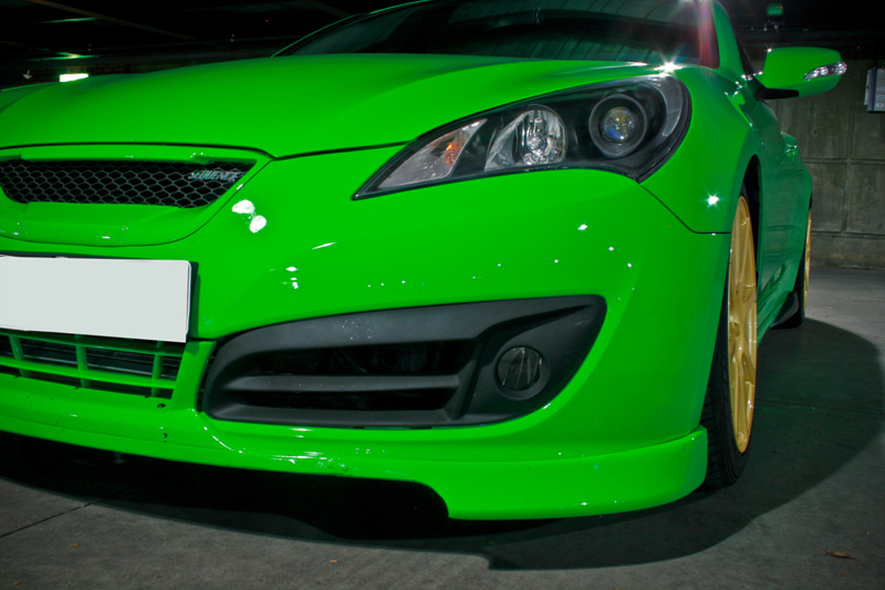 Genesis Coupe Sequence Version 2 Fog Light Bezels In Matte