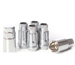 MUTEKI SR48 LUG NUT 4PCS LOCK SET: 12 x 1.50 (OPEN END/SILVER)