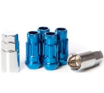 MUTEKI SR48 LUG NUT 4PCS LOCK SET: 12 x 1.50 (OPEN END/BLUE)