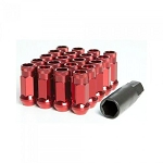 MUTEKI SR48 LUG NUT SET: 12 x 1.50 (OPEN END/RED)