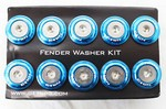 NRG 10 PIECE FENDER WASHER KIT - NEW BLUE