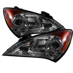 Hyundai Genesis Coupe Spyder Headlights with Angel Eyes -Smoked
