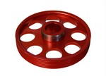 Torque Solution Lightweight Crank Pulley Genesis Coupe 3.8 2010 - 2013+ (Red)