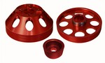 Torque Solution Lightweight Pulley Set Genesis Coupe 3.8 2010 - 2013+ (Red)