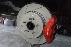 Cquence Brakes Kia Stinger Brembo Rear Slotted Rotors (Pair)