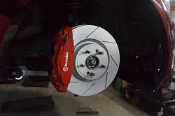 Cquence Brakes KIA STINGER Street Brembo Front Drilled/Slotted/Blanks Rotors (Pair)