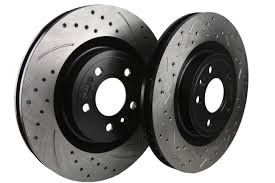 Cquence Brakes Kia Stinger Sport Brembo Rear Drilled/Slotted/Blanks Rotors (Pair)