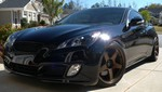 Genesis Coupe M&S Fog light bezels in Matte Black 2010 - 2012