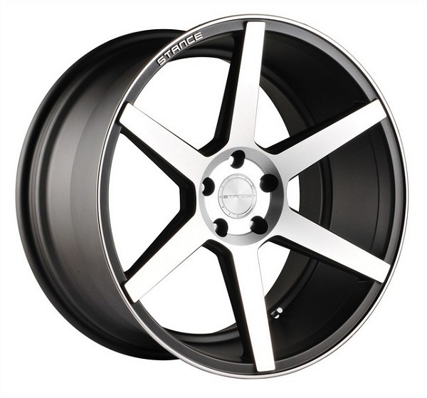 20 INCH STANCE SC-6ix Slate Grey Machine WHEELS - SET