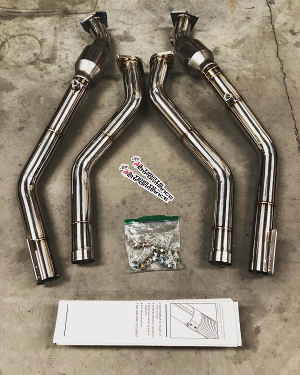 Kia Stinger 3.3T - Ultimate Performance HFC Downpipe + Secondary Pipe Combo Kit