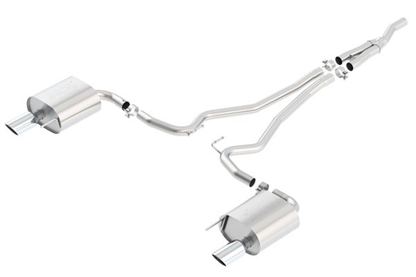 2015-16 FORD MUSTANG BORLA ATAK CAT BACK EXHAUST ECOBOOST - S550