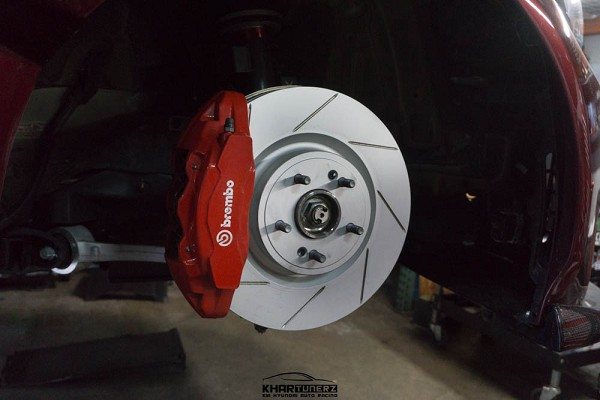 Cquence Brakes Genesis G70 Street Brembo Front Drilled/Slotted/Blanks Rotors (Pair)