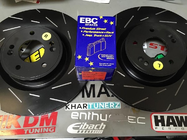 EBC Rotor & Pad Upgrade Package 2010+ BREMBO