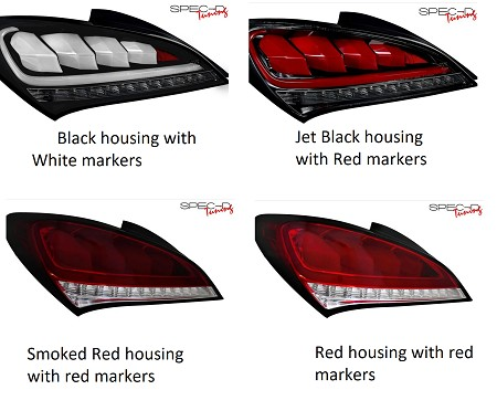 2010-2016 Genesis Coupe Spec D Tuning Tail Lights - SHIPPING NOW